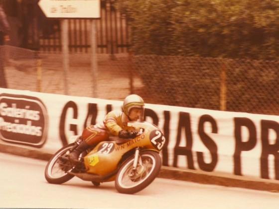 1972, Rolf Minhoff, Montjuïc Circuit Barcelona, Maico 125ccm