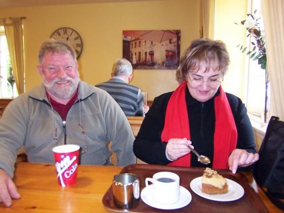 Im Caffee Queens view in Schottland 2009 ...schön wars....Mit Frau.....