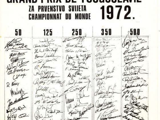 1972, Starterliste GP Jugoslawien, Rennstrecke Preluk