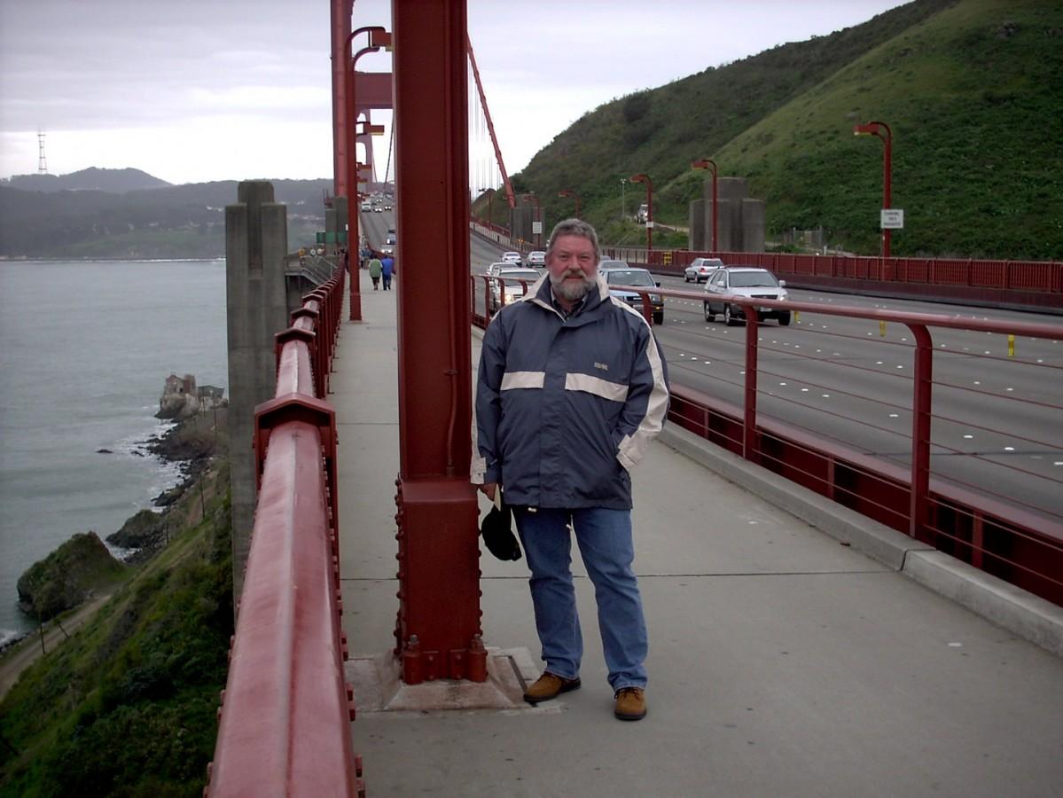 Auf der Golden Gate Bridge...San Franzisco