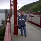 Auf der Golden Gate Bridge...San Franzisco