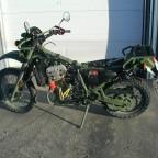 Auch die HDT Diesel im Kawasakirahmen der KLE 650 wurde erprobt....