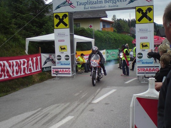 Am Start Tauplitzalm Bergpreis